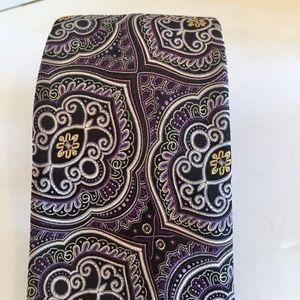 Robert Talbott Carmel Purple Hand Sewn Silk Tie